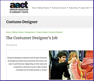 Theatrical Costume Maker And Designer Links Leisure And Entertainment On The Job